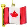Glass Canadian Flag Christmas Ornament