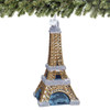 Glass Paris Eiffel Tower Christmas Ornament