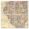 Illinois Map Coaster Set of 4