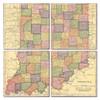 Indiana Map Coaster Set of 4