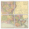 Louisiana Map Coaster Set of 4