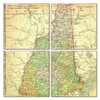 New Hampshire Map Coaster Set of 4