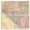 Nevada Map Coaster Set of 4