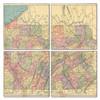 Pennsylvania Map Coaster Set of 4