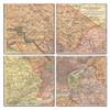 Philadelphia Map Coaster Set of 4