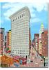 Flatiron Building Art Scene Note Cards