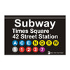 42nd Street Subway Station Times Square Magnet