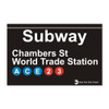 Subway Chambers Street World Trade Center Magnet
