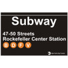 Rockefeller Subway Sign