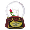 Musical Phantom of the Opera Snow Globe with Mask and Rose