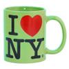 Green I Love NY Mug