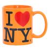 Orange I Love NY Mug