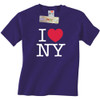 Purple I Love NY T-Shirts with the I Heart NY logo in this New York City souvenir.