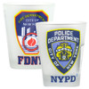New York City Shot Glasses NYPD and FDNY