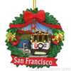 San Francisco Wreath Ornament