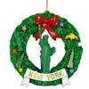 New York Wreath Statue of Liberty Christmas Ornament