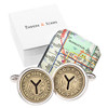 Sterling Silver NYC Subway Cufflinks with Authentic MTA Tokens