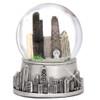 Silver Chicago Snow Globe, Souvenir Skyline Replica of Chicago, Illinois
