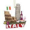 Italy Christmas Ornament Pisa, Coliseum, Wine