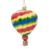 Hot Air Balloon Christmas Ornament Glass