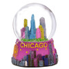 Colorful Chicago Snow Globe, Skyline