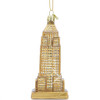 Golden Empire State Building Christmas Ornament Glass