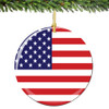 USA Flag Christmas Ornament Porcelain