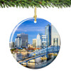 Jacksonville Florida Christmas Ornament Porcelain