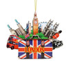 3D London Christmas Ornament