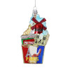 Paris Glass Shopping Bag Ornament