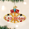 Las Vegas Sign Glass Ornament