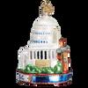 Washington D.C. Landmarks Glass Ornament