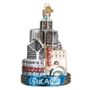 Chicago Landmarks Glass Ornament