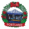 Portland Wreath Christmas Ornament