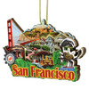 3D San Francisco Christmas Ornament