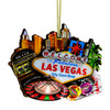 3D Las Vegas Christmas Ornament