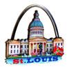 3D Saint Louis Magnet