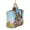 London Suitcase Glass Ornament