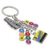 Metal New York City Subway Key Chain 5 Charms