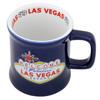Embossed Blue Las Vegas Mug