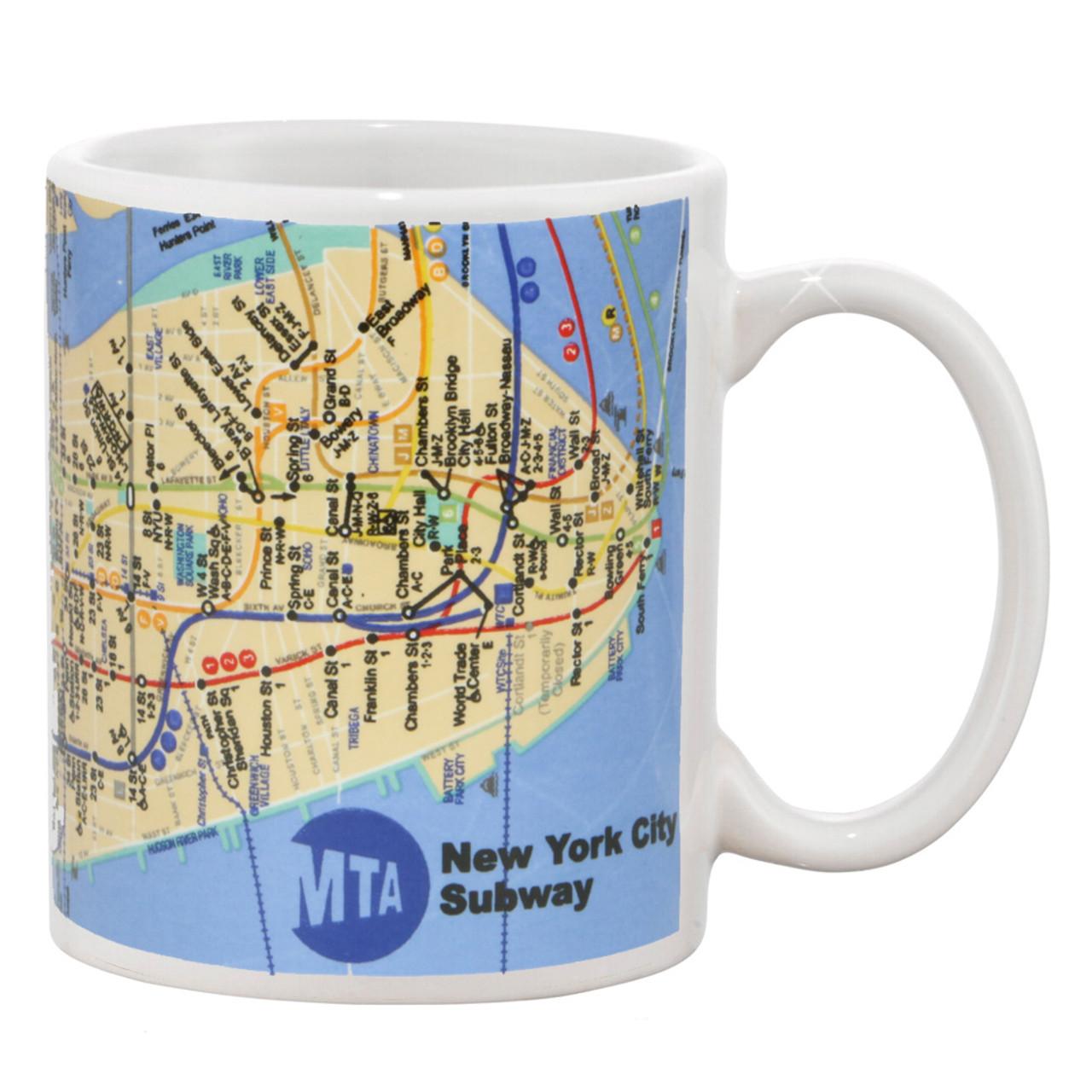 Nyc Subway Map A C E.New York City Mta Subway Map Mug