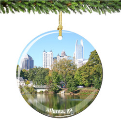 Porcelain Atlanta Christmas Ornament