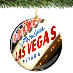 Porcelain Las Vegas Christmas Ornament