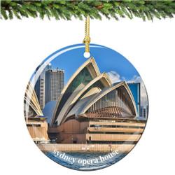 Porcelain Australia Sydney Opera House Christmas Ornament