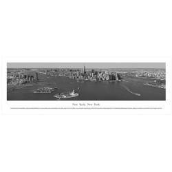 Panoramic Black & White NYC Skyline Poster