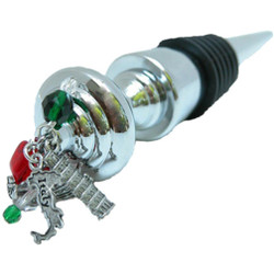 Italy Wine Bottle Stopper with Italian Charms