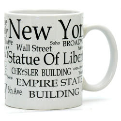 White New York City Mug