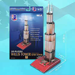 Willis Tower 3D Puzzle