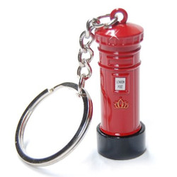 London Post Box Key Chain, Mail Box