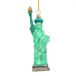 statue of liberty ornament in glass